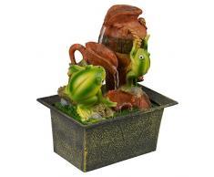 Cascada Fuente de agua calmante Feng Shui efecto interior mesa escritorio, característica especial., Frogs
