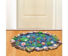 Poner piso pintura pared pegatinas 3D creative living comedor dormitorio habitación niños pegatinas de pared,Estanque de adoquín 70 * 50cm