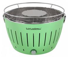 LotusgGrill Verde Parrilla de carbón vegetal Barbacoa de mesa libre de humo, asar