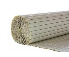 Esterilla de protección de PVC protección visual / revestimiento de balcón - 1 x 3 m, Blanco, Plástico