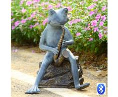 SPI Rana Bluesman con altavoz bluetooth - Escultura de jardín