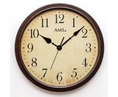 AMS Reloj de Pared, marrón