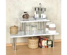 bremermann estantería de cocina, estantería universal, estante para especias, blanco