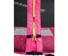SixBros. SixJump 3,05 M Trampolín de jardín fucsia examinado por Intertek/GS - Escalera - Red de seguridad - Lluvia cobertura - CST305/L1694