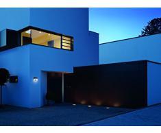 Steinel XSolar LH-N 007140 - Lámpara Solar LED con Número de Casa y Interruptor Crepuscular, color acero