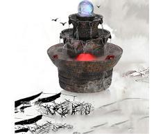 Estatuas Artes de la decoración,Fuente de Mesa Piedra de Molino de Agua decoración Ornamento de Muebles Abriendo Regalo de inauguración de la casa-Molino de Piedra 9.4inch