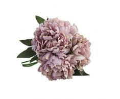 Winwintom - Hortensia artificial, flores artificiales de seda para ramo de novia y decoración de boda