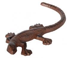 Esschert Design - Escultura de lagarto para jardín (acero fundido), color marrón