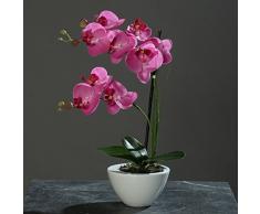Orquídea Phalaenopsis en tazón de fuente blanco rosa 44 cm de la flor artificial por DPI