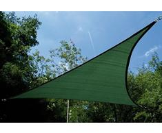 Garbric - Toldo vela triangular 3.6x3.6x3.6 verde
