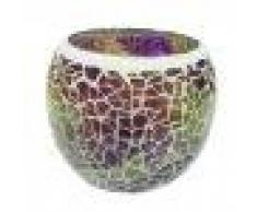 Baoblaze Sostenedor Votivo de Candelero Cristal de Mosaico para Decoración de Banquete Boda - Estilo 5
