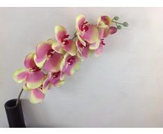 GMMH Ramas de orquídeas 107 cm Verde Flores Artificiales de Seda Rosa Flores de orquídeas Artificiales como Real