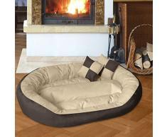 BedDog 4 en 1 SABA beige/marron XL aprox. 85x70cm colchón para perro, 7 colores, cama para perro, sofá para perro, cesta para perro