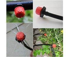 ycnk ajustable de plástico Micro riego por goteo herramienta de riego anti-clogging emisor de émbolo para 4 mm Sistema de Riego
