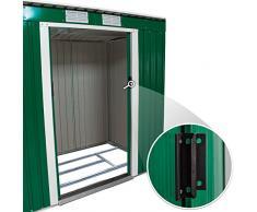 TecTake Cobertizo caseta de jardín metálica de metal invernadero almacén | 213x130x173cm | + fundación