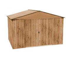 Caseta metálica imitación madera Hercules