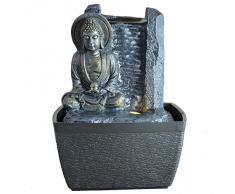 Zen Arôme - Buda de la serenidad, fuente de interior con iluminación LED multicolor, 18 cm