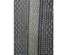 Biombo Blanco y Negro de Bambú Natural cuatro paneles (1.80x1.80 cm)