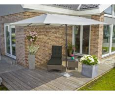 greemotion Luna - Sombrilla parasol para exteriores (protección UV 50+, 465 x 270 cm, 248 cm de alto), color blanco