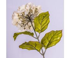 Rama de hortensia artificial, crema, 70 cm, Ø 16 cm - Flor sintética / Tallo decorativo - artplants