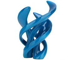Tooarts- Escultura de Resina Color Azul Escultura Moderna Artes abstractas Color Gris para Decoración de Hotel, Oficina y Hogar Cumpleaños