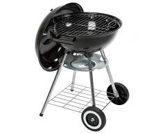 TecTake Barbacoa Barbecue Grill con Carbón Vegetal Parrilla Fumador - varios modelos - (Barbacoa con tapa y ruedas kettle | no. 401665)