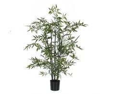Decoraciones Mica 987.835 T Kunstblume -y- bambú planta con altura troncos negro 100 cm de maceta de plástico