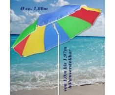 Hi Sombrilla 180 cm Playa Pantalla Balcón Pantalla Pantalla Arco Iris Colores del Arco Iris