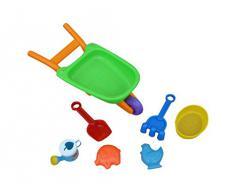 7-parte de la caja de arena juguetes Conjunto de arena coche juguetes para cavar playa accesiories B35A verano