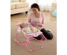 Fisher-Price - Hamaca crece conmigo conejitos divertidos, color rosa (Mattel Y8184)