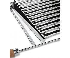 Accesorio de barbacoa/grill, Parrilla Bio en acero inoxidable de anchura ajustable 50–70x42cm, Parilla biológica