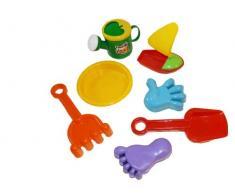7-parte de la caja de arena juguetes Conjunto de arena coche juguetes para cavar playa accesiories verano B23
