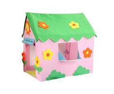 Easy-topbuy Tiendas De Campaña para Niños, Casa De Juegos Casita De Juegos Infantil Carpa para Familias, Patios, Parques, Fiestas, 107x73x120cm