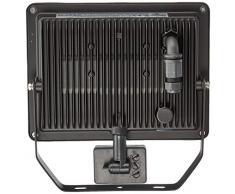 Foco Proyector LED de exterior con detector de movimiento, 50 W; LED Foco Proyector de exterior con detector de movimiento, 50 W, luz negro - Solución para casa entradas, acceso vías, Jardín & Co.