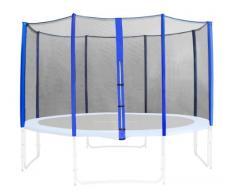 Red de segurida azul para trampolín de jardín 1,85m -4,60m - diferentes tamaños - SN-466 - Size 4,30 m 5L