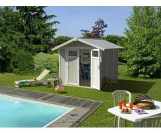 Caseta cobertizo resina jardin grosfillex utility 4.90 color gris-azul