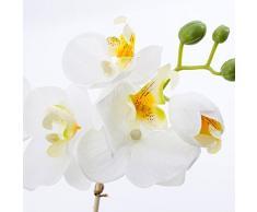 Orquídea Phalaenopsis MINA en maceta, tres ramas, blanco, 45 cm - Planta artificial / Orquídea sintética - artplants
