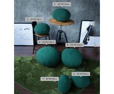 Pillow-MAIKA HOME Almohada de piedra morada/verde, Cojín de adoquín casero europeo (Estilo: C; Color Morado)