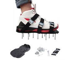 Zapatos con pinchos,Bloomma Sandalias de suelo con aireador de césped con 6 correas ajustables y hebillas de aleación de zinc para ventilar su césped o patio, 11.81*5.12 ''