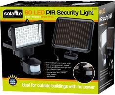 60 LED super brillante de Seguridad Solar reflector de luz con sensor de movimiento PIR