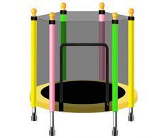 TrampolíN Interior para NiñOs - Mini TrampolíN - con Protector De Seguridad - TrampolíN De JardíN - TrampolíN Al Aire Libre - Puede Soportar 175 Kg