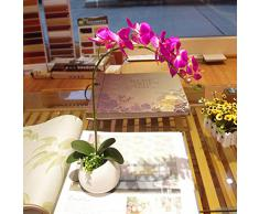 1 X Decoración Para El Hogar Artificial Planta De Flor De La Orquídea Mariposa De La Simulación - Fucsia