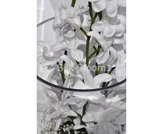 Blanco de la orquídea Cymbidium Touch fresco Floral con gran pantalla/perlas