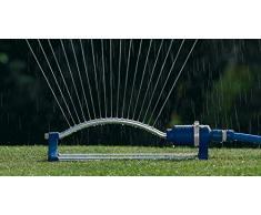 Tatay 0021301 Top Line - Aspersor oscilante 17T para riego de Jardín, ABS Azul, Superficie de riego 110m², 46 x 15 x 11,5