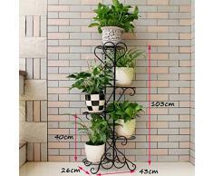 Estantes de flor de 5 niveles Estantería de metal de hierro Estantería de pie para 5 macetas de plantas Estantes de soporte Estantería de soporte Estantería de almacenamiento de jardín para interiores Sala Decoración de balcón