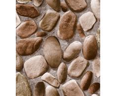 cabeza de piedra del adoquín 3D estereoscópica cultura fondo de pantalla de simulación de rock Rock Cafe paredes del hotel fondos de escritorio ( Design : 03 )