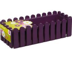 Emsa 508697 Casa Brilliant - Jardinera rectangular (polipropileno, 75 x 20 x 16 cm), color morado