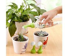 Boquilla de riego para plantas de jardín, 2 piezas, aerosoles portátiles, riego, regadera, verduras, niebla, alcachofa de ducha, riego de botellas, boquilla convertidora