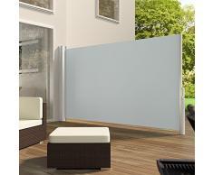 TecTake Toldo lateral de aluminio separador retráctil terraza protección - disponible en diferentes colores y varias tamaños - (Gris | 160x300cm | no. 401524)
