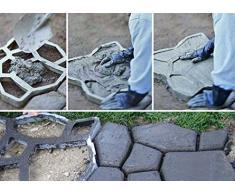 mymotto Jardín hormigón Forma 2608597169 Forma Fundición para tiritas Forma pedalada piedra – Adoquín Aceras 39 x 39 x3,8 cm (L x B x T)
